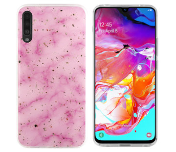 Colorfone Samsung A70 Hoesje Roze Marble