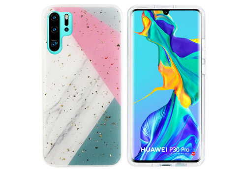 BackCover Marble Glitter P30 Pro Grey