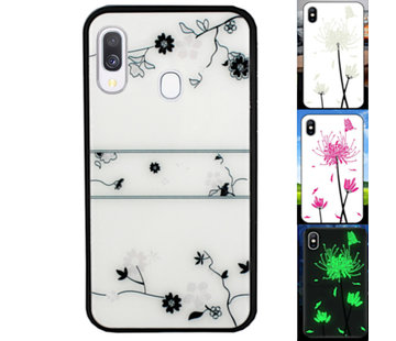 Colorfone Samsung A20 en A30 Hoesje Roos - BackCover Magic Glass