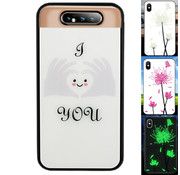 Colorfone Samsung A80 en A90 Hoesje Hart - BackCover Magic Glass
