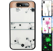 Colorfone Samsung A80 en A90 Hoesje Roos - BackCover Magic Glass