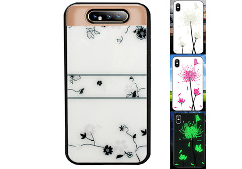 Samsung A80 en A90 Hoesje Roos - BackCover Magic Glass
