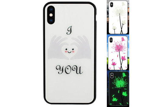 iPhone X en Xs Hoesje Hart - BackCover Magic Glass