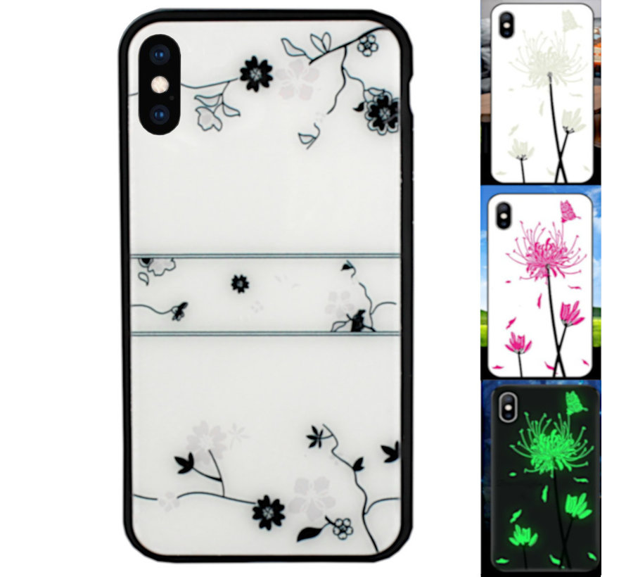 iPhone Xs Max Hoesje Roos - BackCover Magic Glass