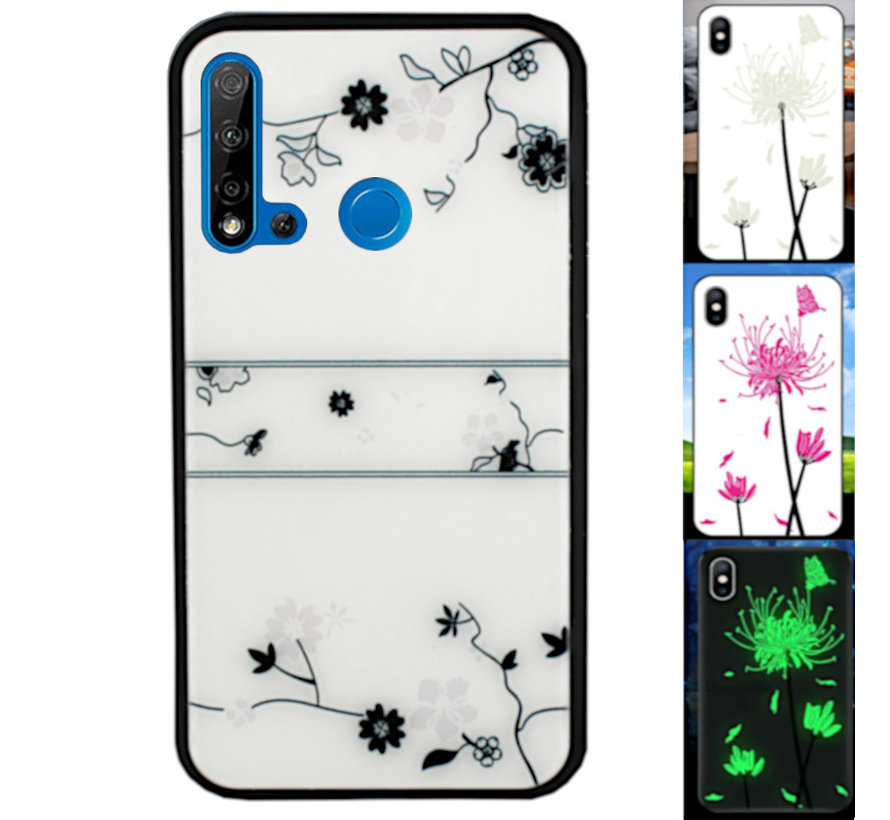 Huawei P20 Lite 2019 Hoesje Roos - BackCover Magic Glass