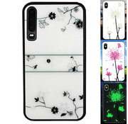 Colorfone Huawei P30 Hoesje Roos - BackCover Magic Glass