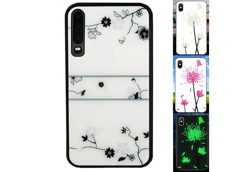 Huawei P30 Hoesje Roos - BackCover Magic Glass