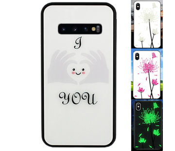 Colorfone Samsung S10 Hoesje Hart - BackCover Magic Glass