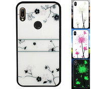 Colorfone Huawei Y6 2019 Hoesje Roos - BackCover Magic Glass