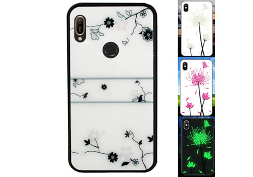 Huawei Y6 2019 Hoesje Roos - BackCover Magic Glass