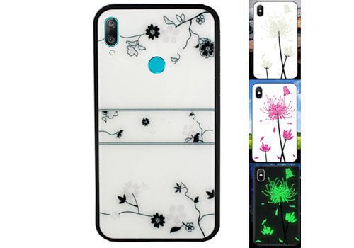 Huawei Y7 2019 Hoesje Roos - BackCover Magic Glass