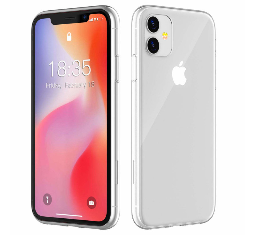 iPhone 11 Siliconen Hoesje Transparant - CoolSkin3T