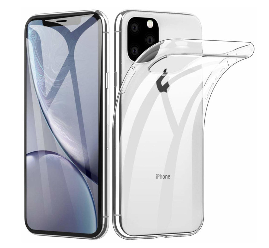 iPhone 11 Pro Max Siliconen Hoesje Transparant - CoolSkin3T
