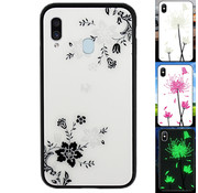 Colorfone Samsung A20E Hoesje Bloemen - BackCover Magic Glass 1