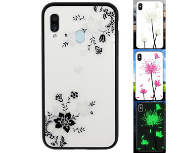 Colorfone Samsung A40 Hoesje Bloemen - BackCover Magic Glass 1