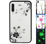 Colorfone Samsung A50 Hoesje Bloemen - BackCover Magic Glass 1