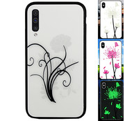 Colorfone Samsung A50 Hoesje Bloemen - BackCover Magic Glass 2