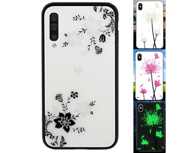Colorfone Samsung A70 Hoesje Bloemen - BackCover Magic Glass 1