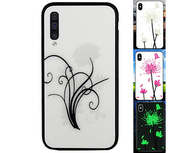Colorfone Samsung A70 Hoesje Bloemen - BackCover Magic Glass 2