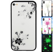 Colorfone iPhone 6 en 6S Hoesje Bloemen - BackCover Magic Glass 1