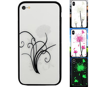 Colorfone iPhone 6 en 6S Hoesje Bloemen - Backcover Magic Glass 2