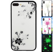 Colorfone iPhone 8 Plus en 7 Plus Hoesje Bloemen - BackCover Magic Glass 1