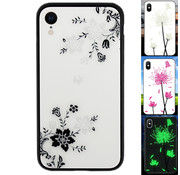 Colorfone iPhone Xr Hoesje Bloemen - BackCover Magic Glass 1