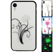 Colorfone iPhone Xr Hoesje Bloemen - BackCover Magic Glass 2