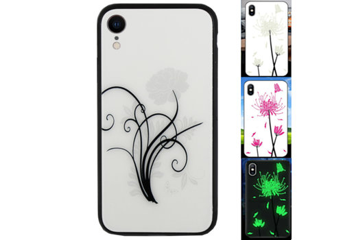 iPhone Xr Hoesje Bloemen - BackCover Magic Glass 2