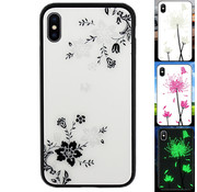 Colorfone iPhone Xs Max Hoesje Bloemen - BackCover Magic Glass 1