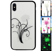 Colorfone iPhone Xs Max Hoesje Bloemen - BackCover Magic Glass 2