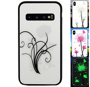 Colorfone Samsung S10 Hoesje Bloemen - BackCover Magic Glass 2