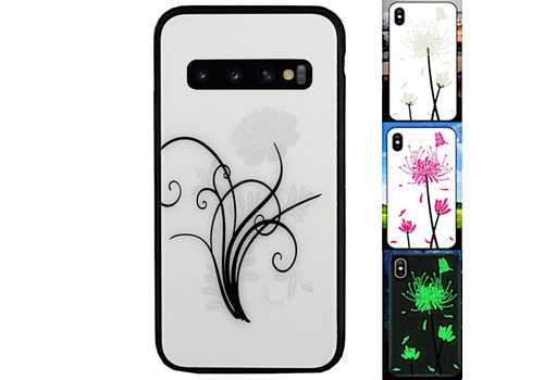 Samsung S10 Hoesje Bloemen - BackCover Magic Glass 2