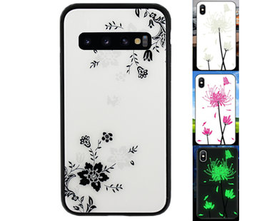 Colorfone Samsung S10 Plus Hoesje Bloemen - BackCover Magic Glass 1
