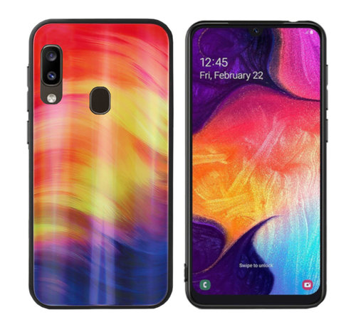 Colorfone BackCover Aurora Glass voor Samsung A20E Paars