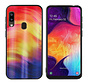 BackCover Aurora Glass voor Samsung A40 Paars