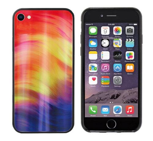 Colorfone BackCover Aurora Glass voor Apple iPhone SE 2020 - 8 - 7 Paars