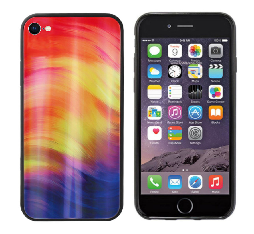 BackCover Aurora Glass voor Apple iPhone SE 2020 - 8 - 7 Paars