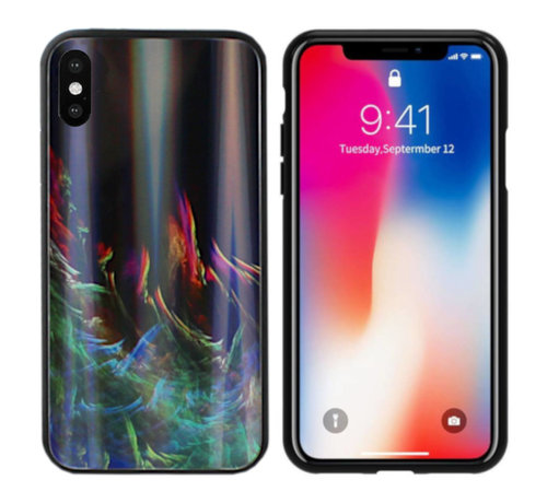Colorfone BackCover Aurora Glass voor Apple iPhone Xs Max Groen