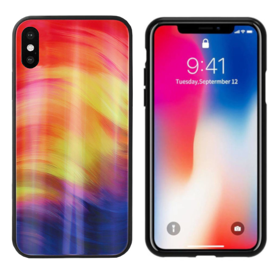 BackCover Aurora Glass voor Apple iPhone Xs Max Paars