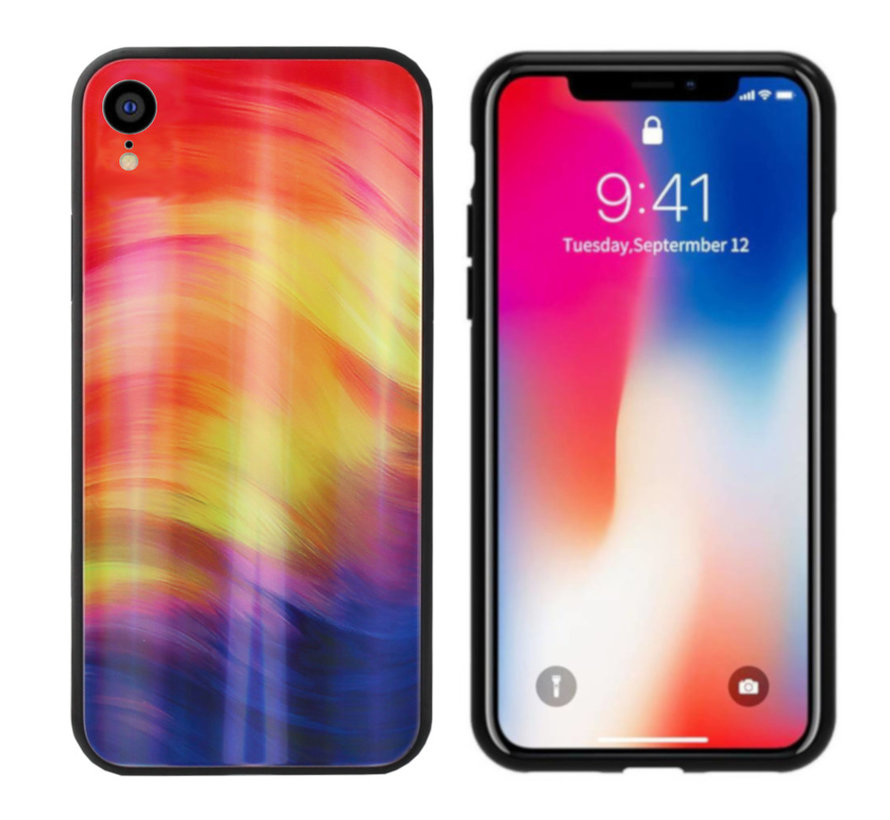 BackCover Aurora Glass voor Apple iPhone Xr Paars