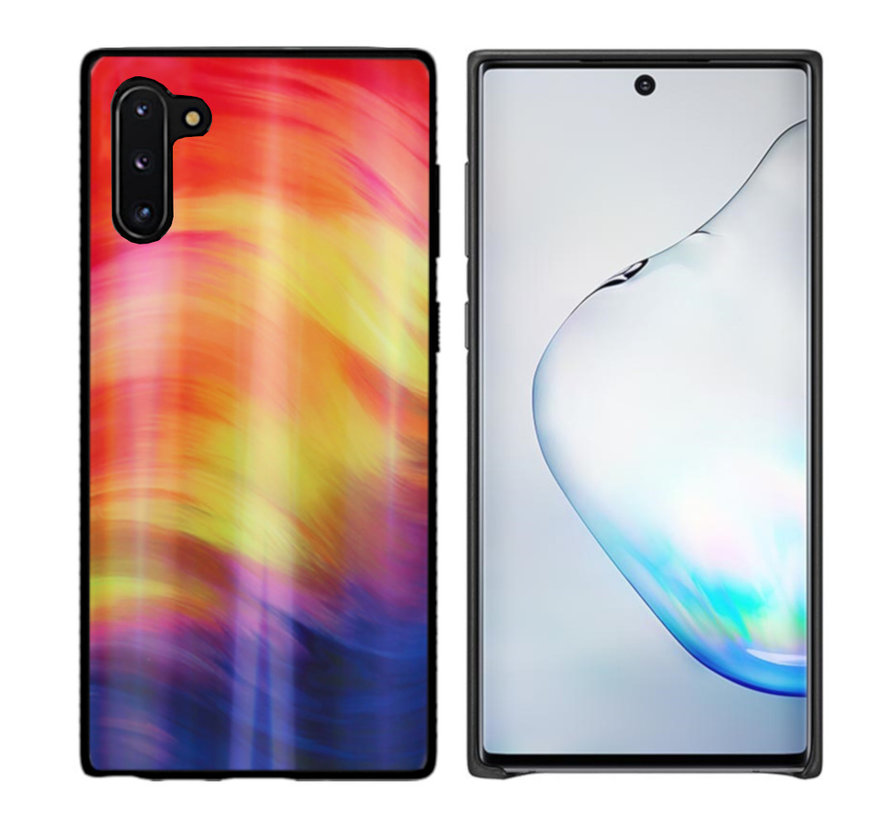 BackCover Aurora Glass voor Samsung Note 10 Paars