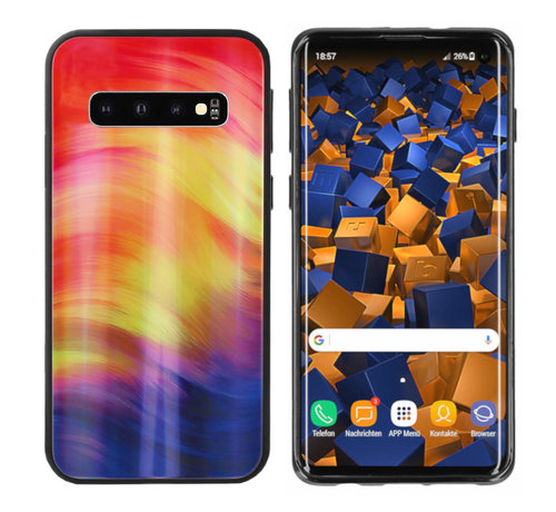 Colorfone BackCover Aurora Glass voor Samsung S10 Plus Paars