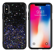 Colorfone iPhone X and Xs Case Blue Glitter - Spark