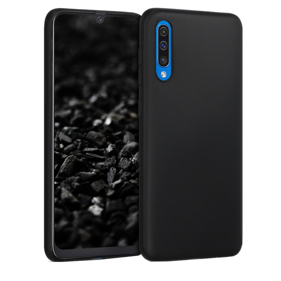 Hoesje CoolSkin Slim TPU Case voor Samsung A50S Zwart