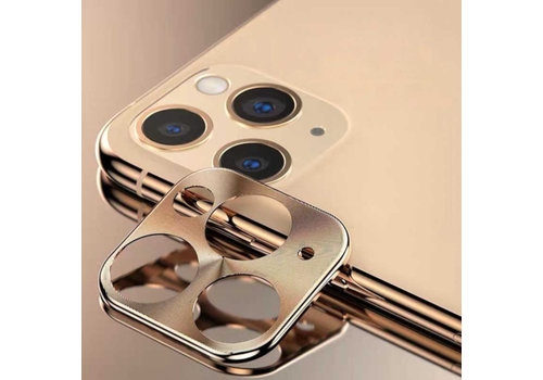 Metallkameraobjektivschutz iPhone 11 Pro (5,8) / 11 Pro Max (6,5) Gold