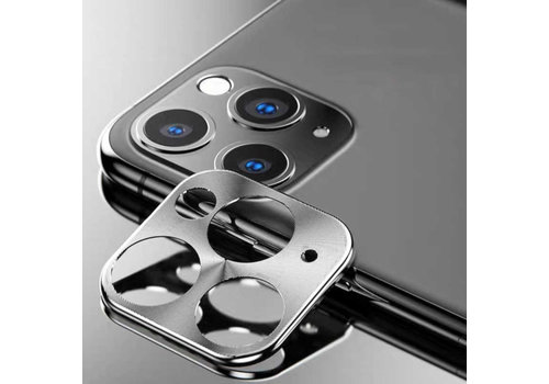 iPhone 11 Pro and 11 Pro Max Case Silver Camera Protector - Metal