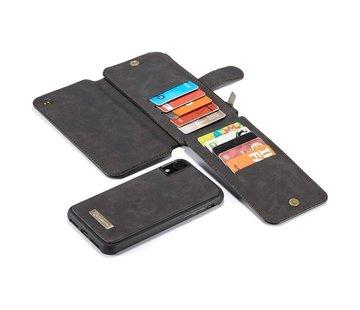 CaseMe 2 in 1 Zipper Wallet iPhone 11 Zwart