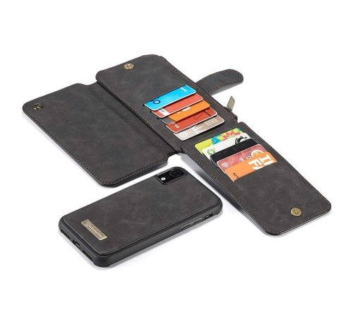 CaseMe 2 in 1 Zipper Wallet Hoes voor iPhone 11 Zwart