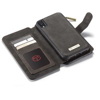 2 in 1 Zipper Wallet Hoes voor iPhone 11 Zwart